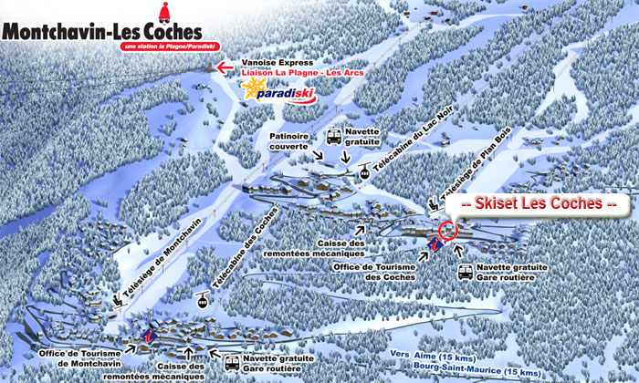 Access Location Coming to Les Coches